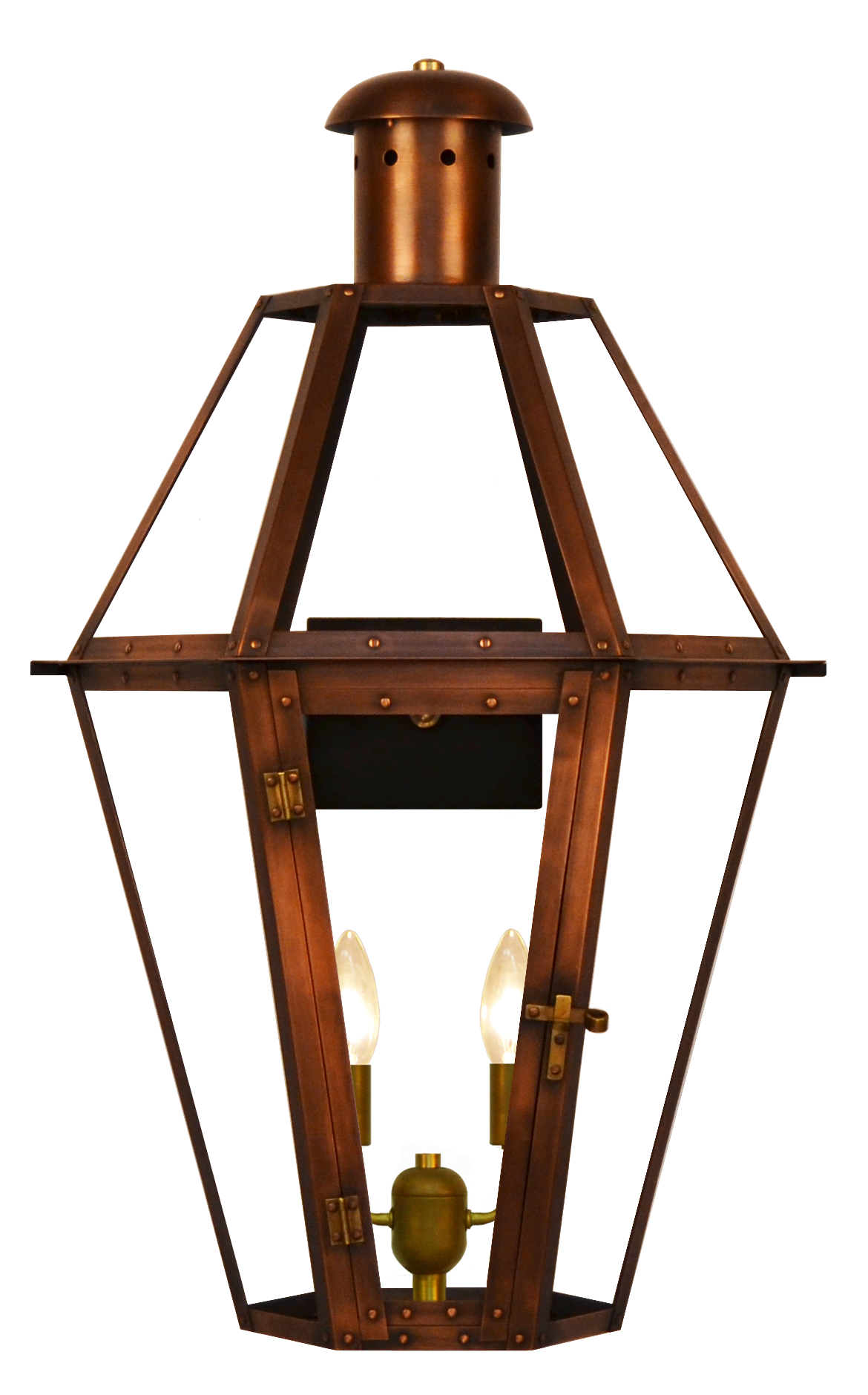 Wall Mount Propane Lamp : The CopperSmith Mount Vernon Gas or Electric Lantern Mount Vernon Gas and Electric LanternMV ...