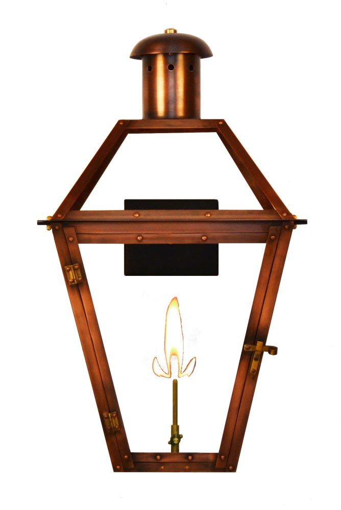 The Coppersmith Georgetown Gas And Electric Lantern Copper Lanternsgt