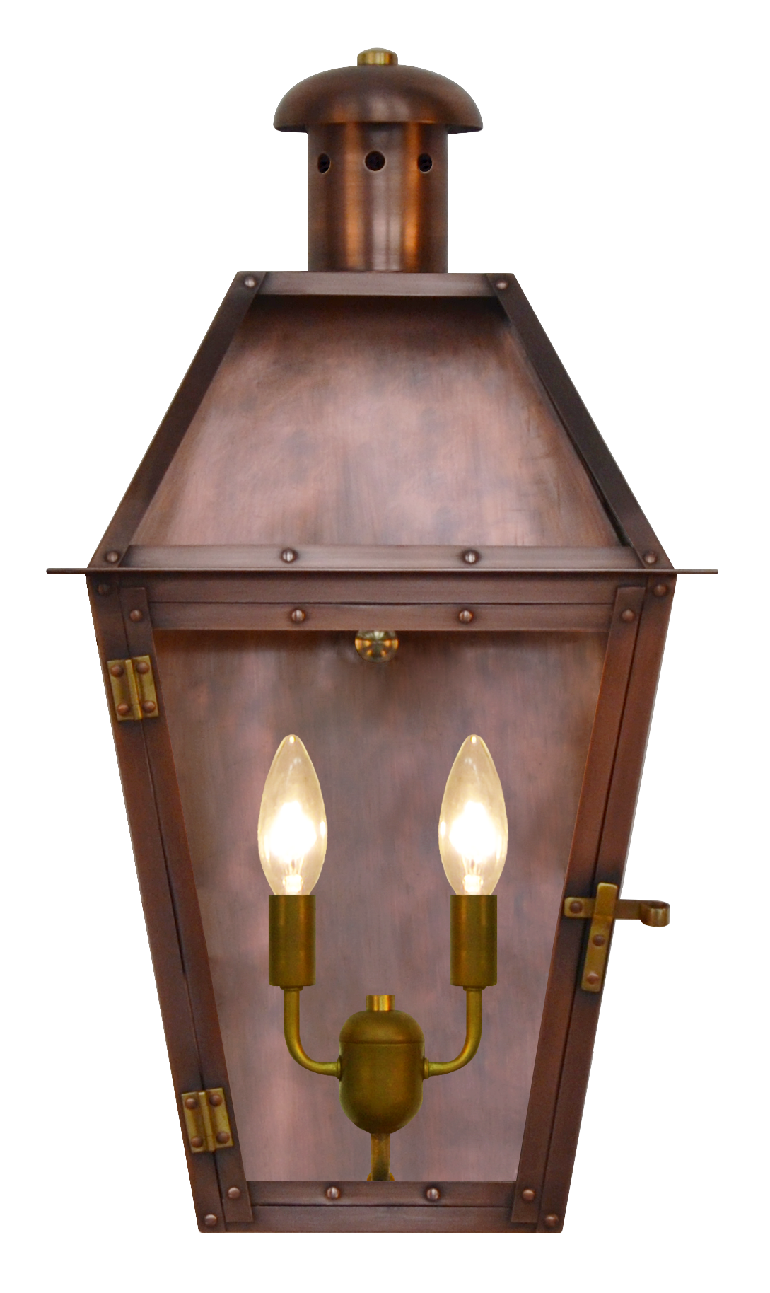 The CopperSmith Arcadia Collection   Gas And Electric Arcadia Gas Or  Electric Copper LanternAC Arcadia