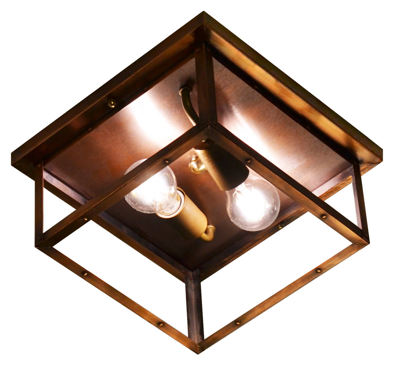 Picture of: The Coppersmith 4 Side Copper Ceiling Light 4 Side Copper Ceiling Flush Mount Lightj4h Juniper
